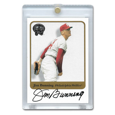 Jim Bunning Autographed Card 2001 Fleer Greats of the Game