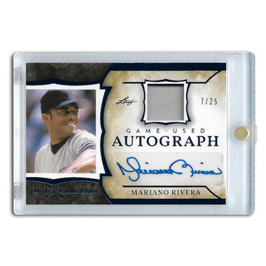 Mariano Rivera Autographed Card 2020 Leaf In The Game Used Ltd Ed 07 of 25