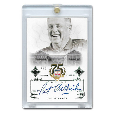 Pat Gillick Autographed Card 2014 Panini Cooperstown HOF 75th Anniversary Green # 88 Ltd Ed of 9