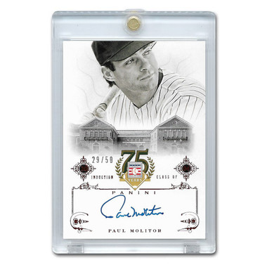 Paul Molitor Autographed Card 2014 Panini Cooperstown HOF 75th Anniversary Red # 48 Ltd Ed of 50