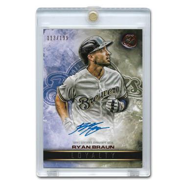 Ryan Braun Autographed Card 2016 Topps Legacies of Baseball Ltd Ed of 199