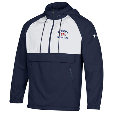 Men's Under Armour Baseball Hall of Fame Navy and White Gameday Anorak Jacket