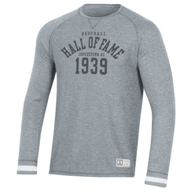 Men's Under Armour Baseball Hall of Fame Grey Gameday Thermal Long Sleeve Crew