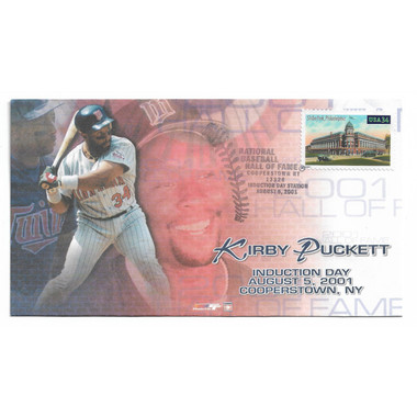 Kirby Puckett Induction First Day Cover August 5, 2001