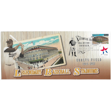 Ebbets Field Legendary Baseball Stadiums Stamp Induction Cover July 25, 2004