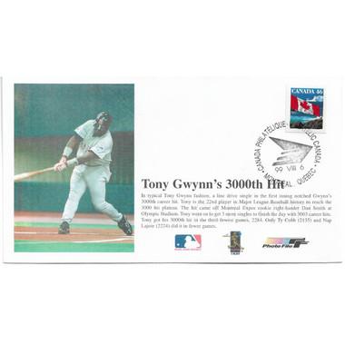 Tony Gwynn 3,000th Hit First Day Cover August 6, 1999