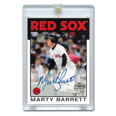 Marty Barrett Autographed Card 2018 Topps Archives Franchise Favorites