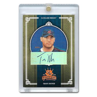 Travis Hafner Autographed Card 2005 Donruss Diamond Kings Crowning Moment Ltd Ed of 50