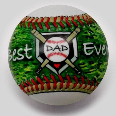 Best Dad Ever Unforgettaballs Limited Commemorative Baseball with Lucite Gift Box