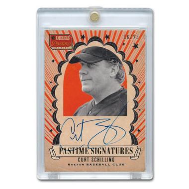 Curt Schilling Autographed Card 2013 America's Pastime Signatures Ltd Ed of 25