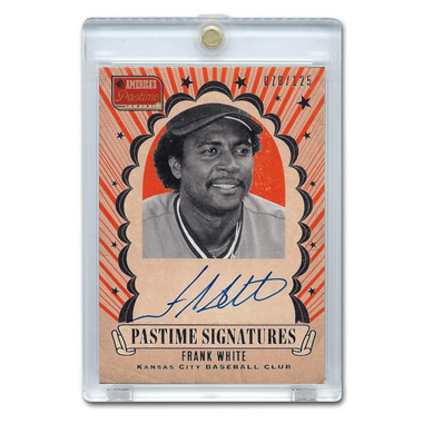 Frank White Autographed Card 2013 America's Pastime Signatures Ltd Ed of 125