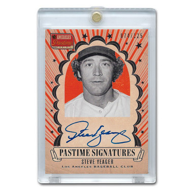 Steve Yeager Autographed Card 2013 America's Pastime Signatures Ltd Ed of 125