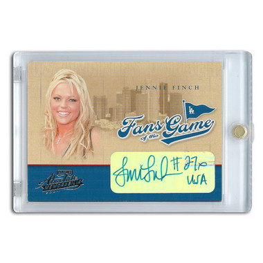 Jennie Finch Autographed Card 2004 Playoff Absolute Fans of the Game