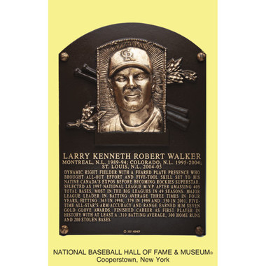Larry Walker Baseball Hall of Fame Plaque Postcard