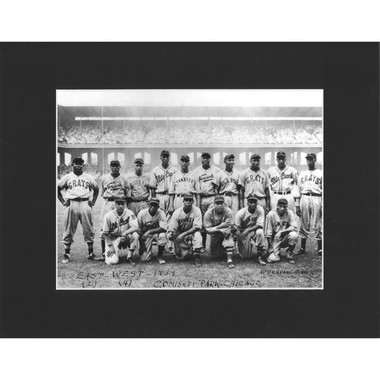 Matted 8x10 Photo- Negro Leagues East-West Game 1939