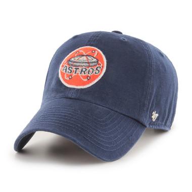 Men's '47 Brand Houston Astros Cooperstown McLean Clean-Up Adjustable Navy Cap