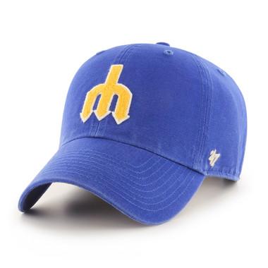 Men's '47 Brand Seattle Mariners Cooperstown McLean Clean-Up Adjustable Royal Cap