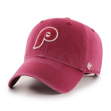 Men's '47 Brand Philadelphia Phillies Cooperstown McLean Clean-Up Adjustable Red Cap