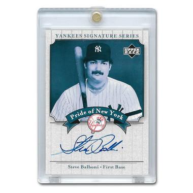 Steve Balboni Autographed Card 2003 Upper Deck Yankees Signature Series #PN-SB
