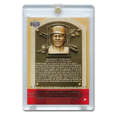 Bob Gibson 2005 Upper Deck Hall of Fame Plaques # SP19