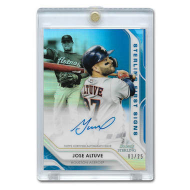 Jose Altuve Autographed Card 2020 Bowman Sterling First Signs Ltd Ed of 25