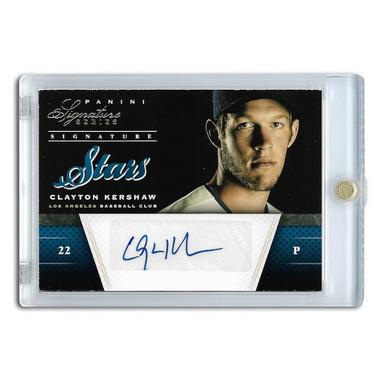 Clayton Kershaw Autographed Card 2012 Panini Signature Series Stars Ltd Ed of 25