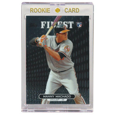 Manny Machado Baltimore Orioles 2013 Topps Finest # 80 Rookie Card