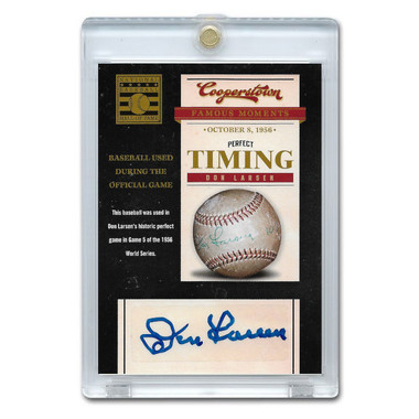 Don Larsen Autographed Card 2012 Panini Cooperstown Famous Moments # 1