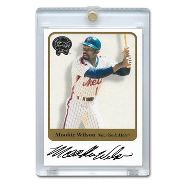 Mookie Wilson Autographed Card 2001 Fleer Greats of the Game