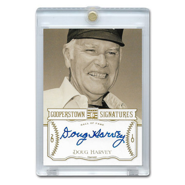 Doug Harvey Autographed Card 2013 Panini Cooperstown Signatures Ltd Ed of 510