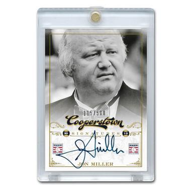 Jon Miller Autographed Card 2012 Panini Cooperstown Ltd Ed of 500