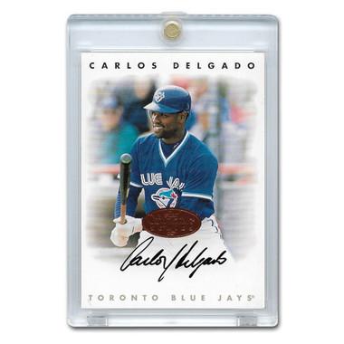 Carlos Delgado Autographed Card 1996 Leaf Signature Series