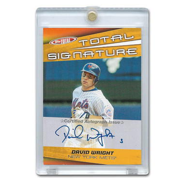 David Wright Autographed Card 2005 Topps Total # TS-DW