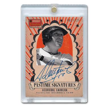 Asdrubal Cabrera Autographed Card 2013 America's Pastime Signatures Ltd Ed of 125