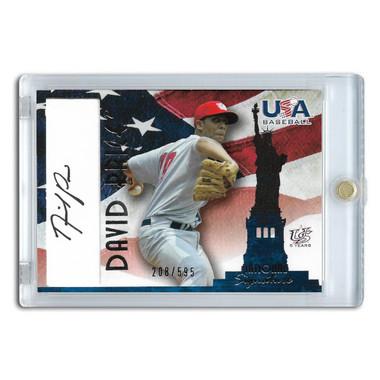 David Price Autographed Card 2007 TriStar Team USA # A-7 Ltd Ed of 595