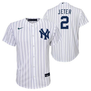 Nike Youth Derek Jeter New York Yankees Pisntripe Name & Number Jersey