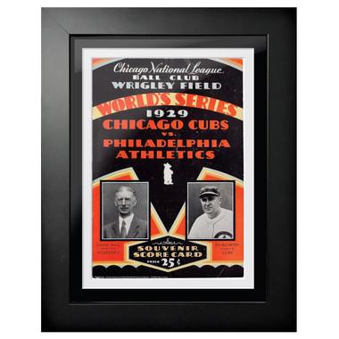 1929 World Series Program Cover 18 x 14 Framed Print