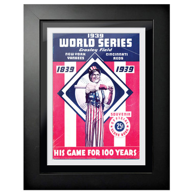1939 World Series Program Cover 18 x 14 Framed Print