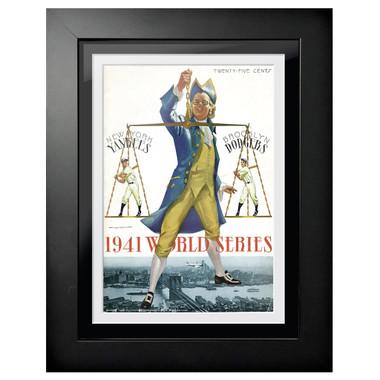 1941 World Series Program Cover 18 x 14 Framed Print