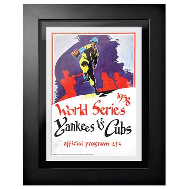 1938 World Series Program Cover 18 x 14 Framed Print