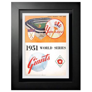 1951 World Series Program Cover 18 x 14 Framed Print
