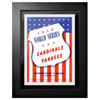 1943 World Series Program Cover 18 x 14 Framed Print # 2