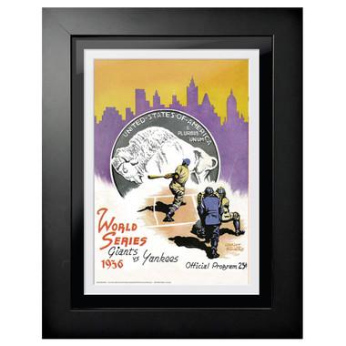 1936 World Series Program Cover 18 x 14 Framed Print