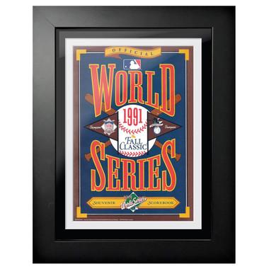 1991 World Series Program Cover 18 x 14 Framed Print