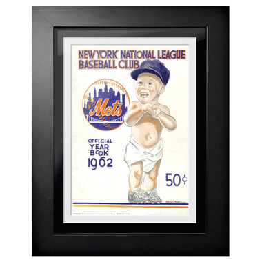 New York Mets 1962 Yearbook Cover 18 x 14 Framed Print
