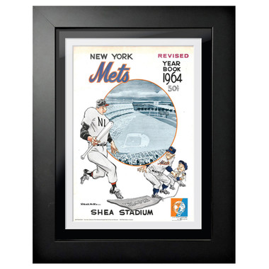 New York Mets 1964 Yearbook Cover 18 x 14 Framed Print