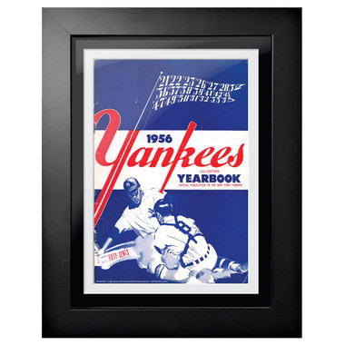 New York Yankees 1956 Yearbook Cover 18 x 14 Framed Print