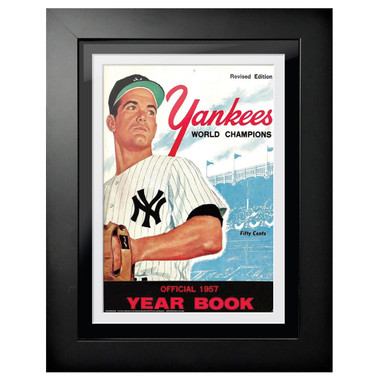 New York Yankees 1957 Yearbook Cover 18 x 14 Framed Print