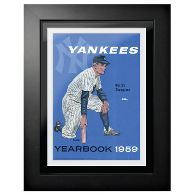 New York Yankees 1959 Yearbook Cover 18 x 14 Framed Print