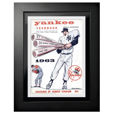 New York Yankees 1963 Yearbook Cover 18 x 14 Framed Print